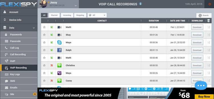 Flexispy call recording