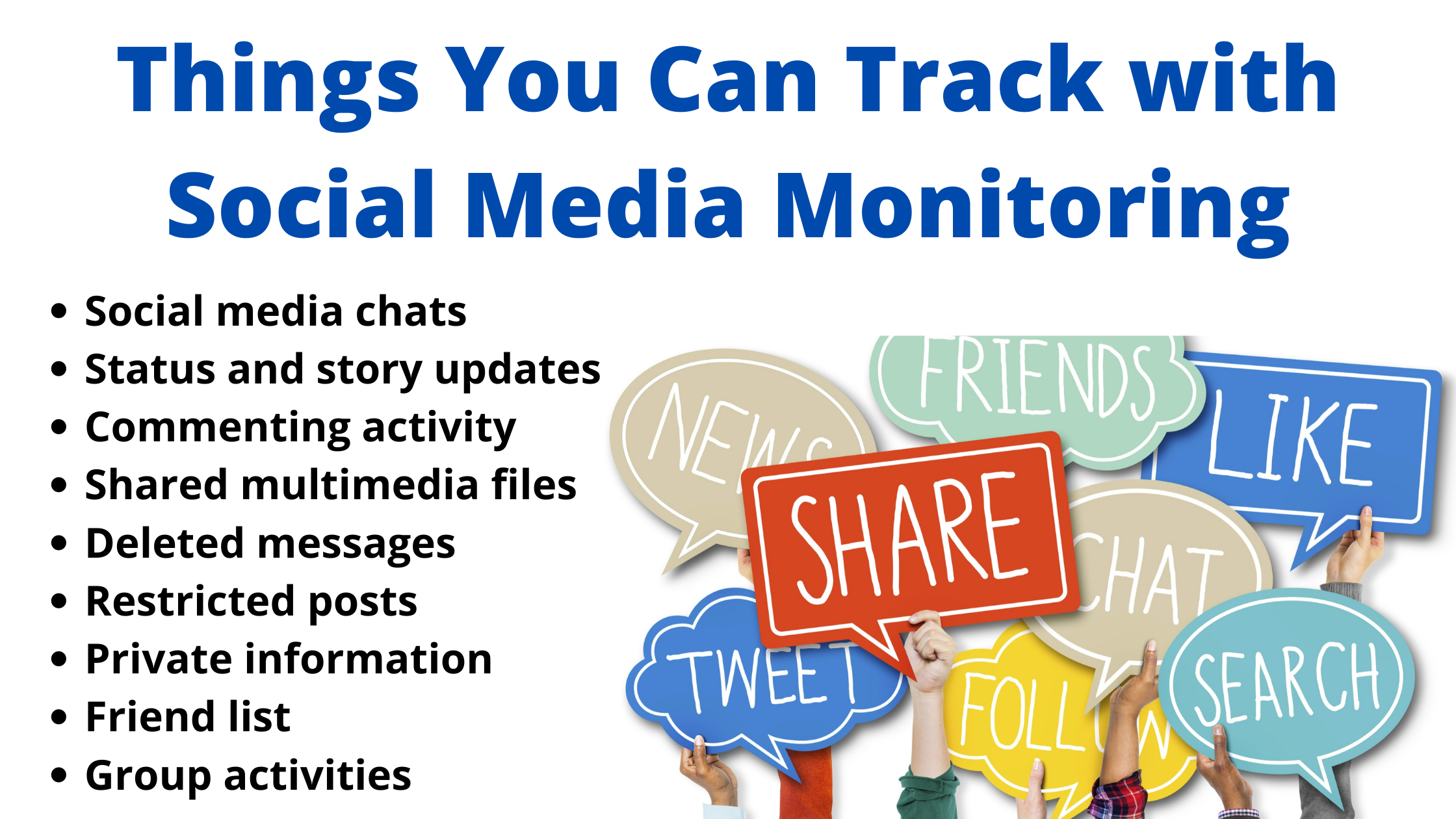 Things You Can Track with Social Media Monitoring